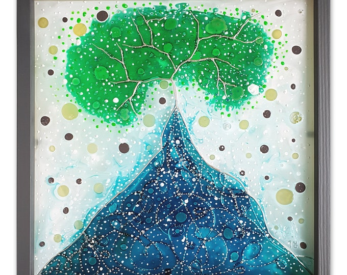 Stained Glass Tree - Glass Painting Tree - Winter Tree Glass Artwork - Winter Tree Glass - by  Maria Marachowska
