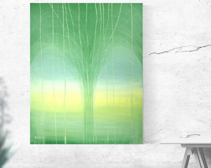 Light Painting Tree - Light Canvas Painting - Panoramic Tree - Panoramic Tree - by Maria Marachowska