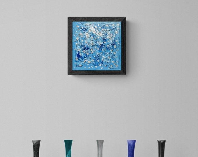 Painting Sea Spray, Abstract Blue Sea Painting, Original Sea Painting, Canvas Painting Sea, Abstract Painting Sea, by Maria Marachowska