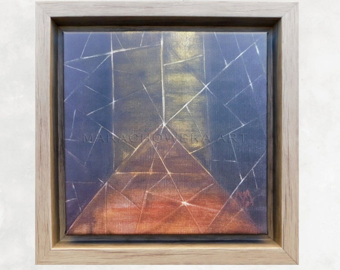 Canvas Print Abstract Gold, Art Print, Painting Print, Abstract Print, Framed Canvas Print, Artwork Print, by Maria Marachowska