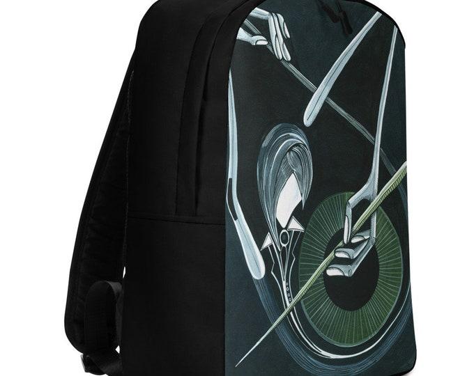 Minimalist Backpack, Musician Backpack, Marachowska Art