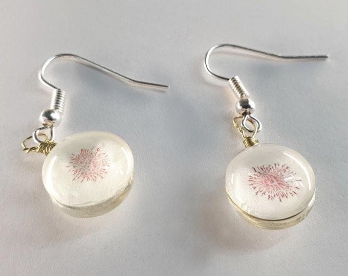 Glow Earrings Jewelry Handmade - Glass Jewelry Hand Painted - Glass Glow Earrings Jewelry - by Maria Marachowska