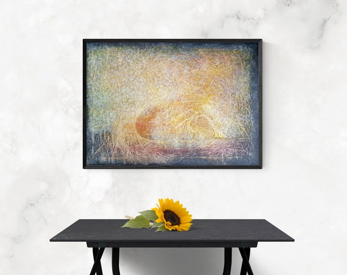 Landscape Painting Framed Autumn, Large Painting Nature, Original Painting Nature Trees, Autumn Painting, by Maria Marachowska