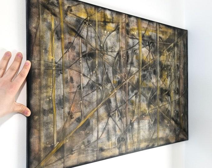 Painting Abstract Autumn - Abstract Autumn Canvas Painting - Abstract Canvas Painting Autumn - by Maria Marachowska