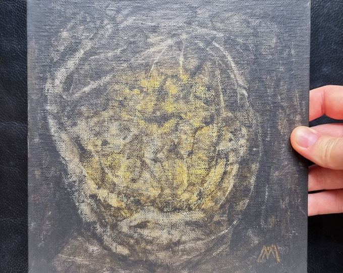 Dark Portrait Horror Painting - Yellow Horror Painting - Portrait Horror Painting - Framed Horror Painting - Horror - by Maria Marachowska