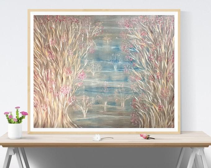 Large Oil Canvas Painting Seascape - Original Oil Canvas Painting Seascape - Framed Large Oil Canvas Painting - by Maria Marachowska