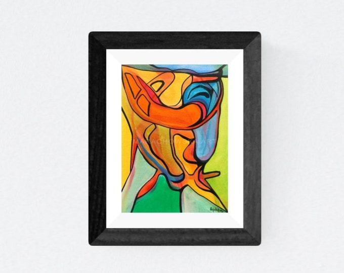 Watercolor Painting Face - Abstract Face Artwork - Watercolor Colorful Face - Colorful Face Artwork - by Maria Marachowska