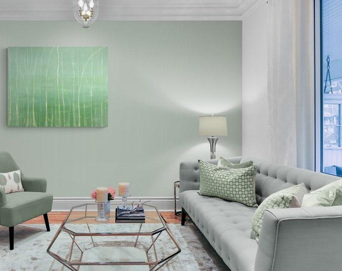 Original Painting Green Seascape, Canvas Painting Green Seascape, Larrge Wall Art, Nature Painting, Canvas Painting, by Maria Marachowska
