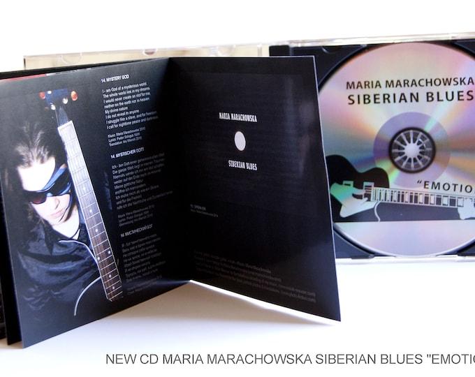 Album Emotions, Music Cd, Maria Marachowska, Siberian Blues, Singer-Songwriter, Blues Rock, Music Album, Acoustic Music