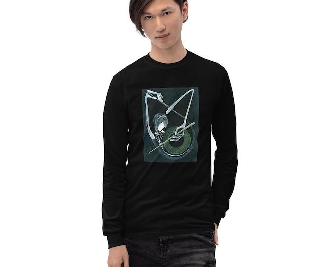 Men's Long Sleeve Shirt, Music T-Shirt, Marachowska Art