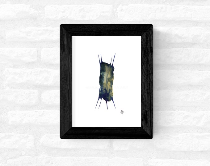 Original Painting Insect, Framed Watercolor Painting, Painting Insect, Watercolor Painting, Minimal Painting, by Maria Marachowska