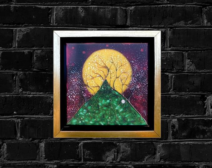Stretched Canvas Print Tree - Canvas Print Gold Framed - Canvas Painting Print Tree - Canvas Art Print Tree - by Maria Marachowska