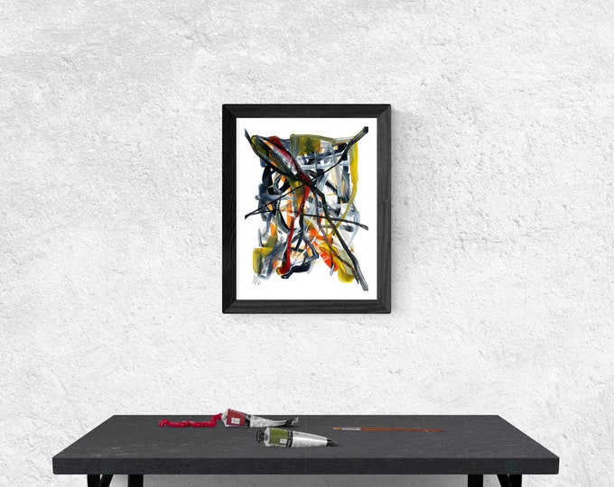 Original Painting Expression, Painting Abstract Expression, Framed Painting Expression, Expressionism Painting, by Maria Marachowska