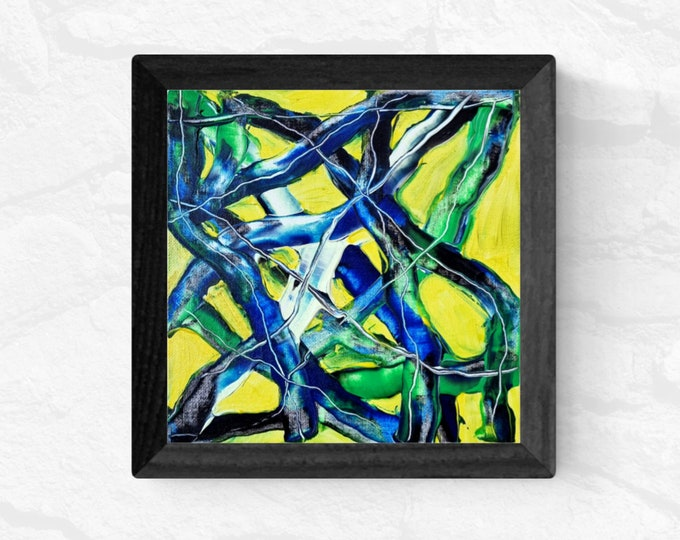 Abstract Painting Blue Expression, Canvas Expressionism Painting, Original Abstract Painting, Abstract Expression, Maria Marachowska