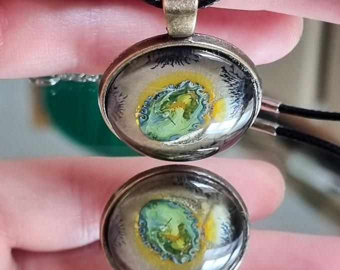 Unique Green Brown Pendant