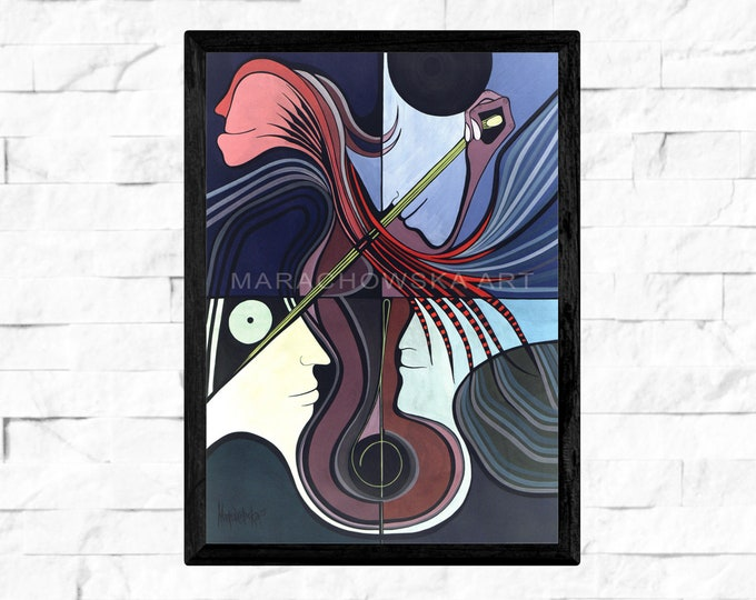 Cello Poster - Cello Print - Cello Instrument - Cello Music - Cello Picture - Cello - by Maria Marachowska