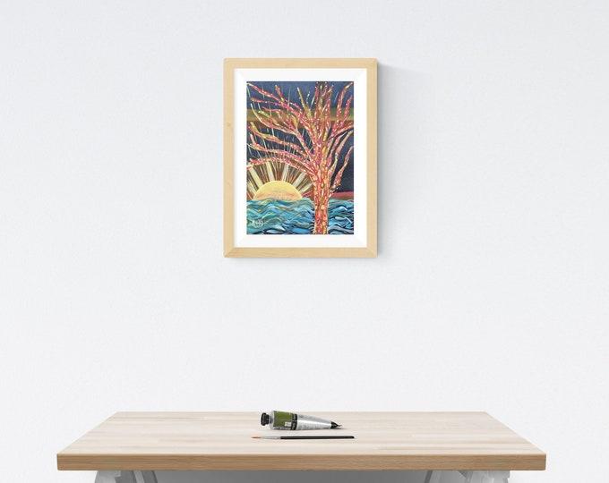 Watercolor Painting Magic Tree