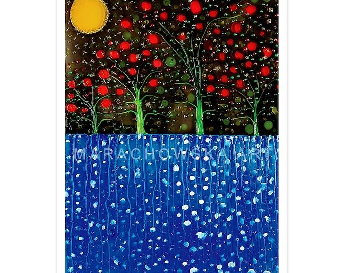 Postcard Cherry Trees
