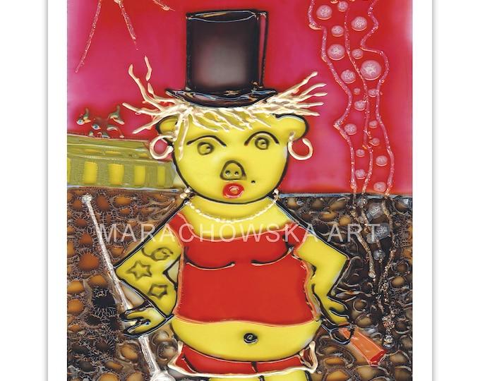 Art Postcard Bear