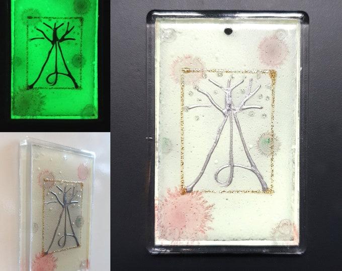 Moon Magnet, Glowing Magnet, Tree Magnet, Original Painting Tree, Unique Magnet Tree, Tree Magnets, by Maria Marachowska