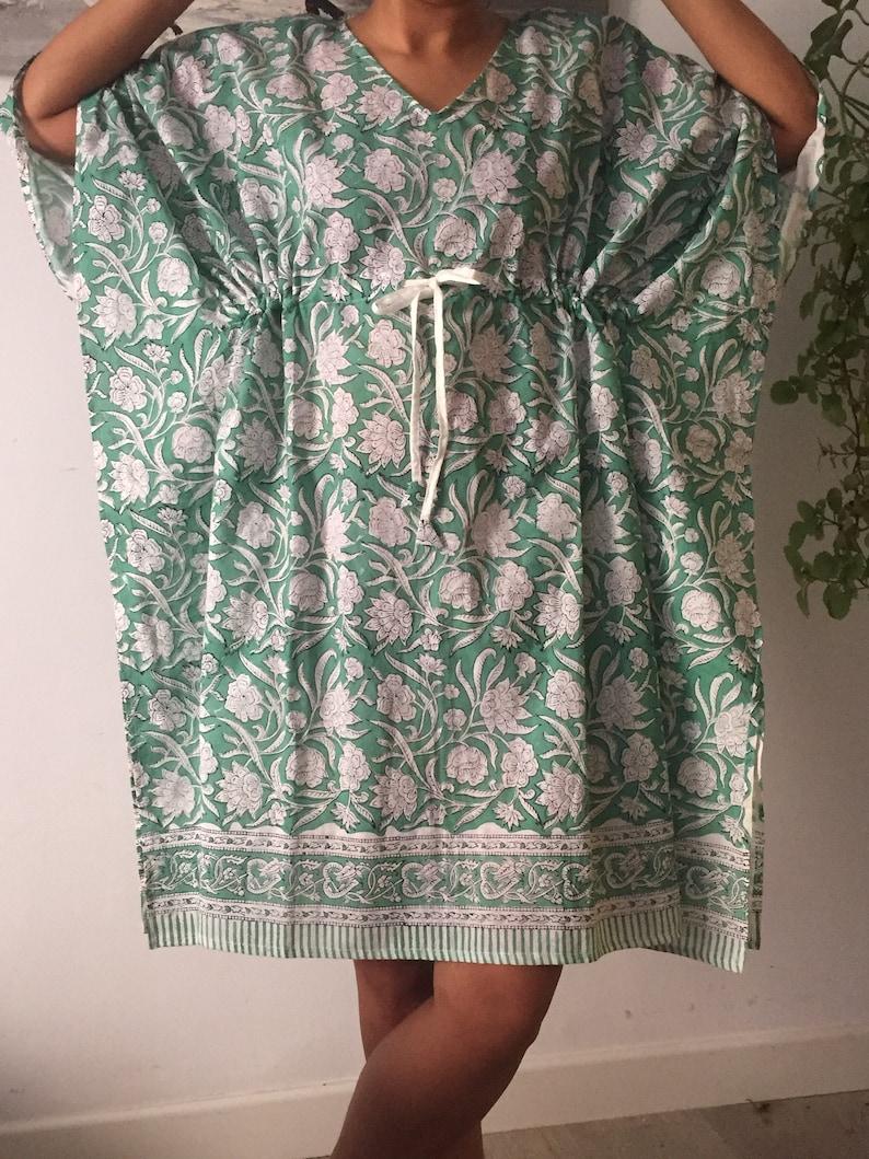 Plus size kaftan Block print kaftan,Cotton kaftan,Gift for her,Resort wear,Loungewear,plus size dress,One size dress,Swim cover up,Beachwear