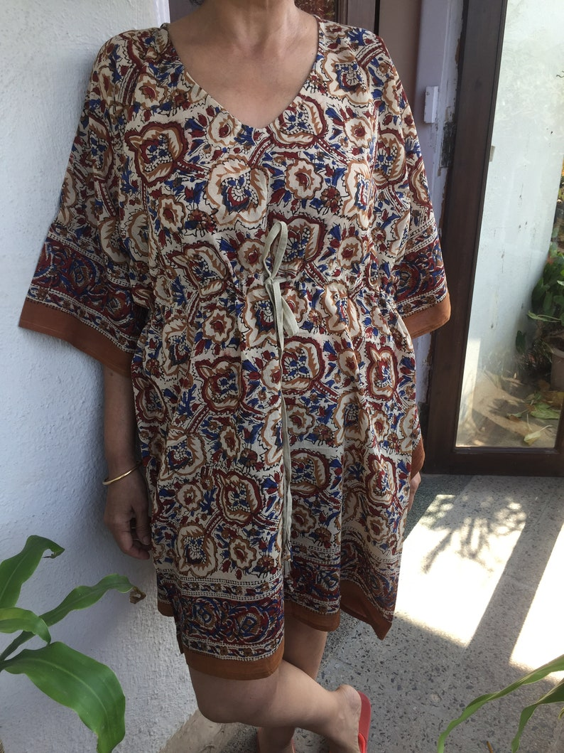 Short Kaftan,Handmade Kaftan,Resort wear,beach cover up,Swim cover up,Gifts for her,boho dress,Women/'s tunic,Cotton sleepwear,loungewear