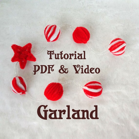 Holiday Garland Tutorial Christmas Garland Made From Pipe Cleaner Christmas Pattern Diy Kids Christmas Decorations Christmas Tree Garland