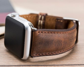 052239933b8 Antic Brown Leather Apple Watch Strap 40mm