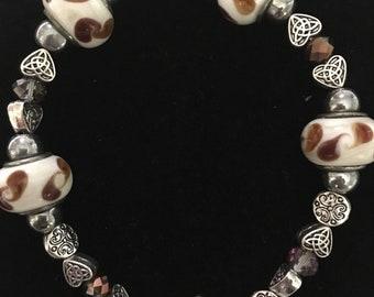 Ceramic and silver ceramic beads