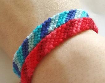 6 Strand Stripe Friendship Bracelet