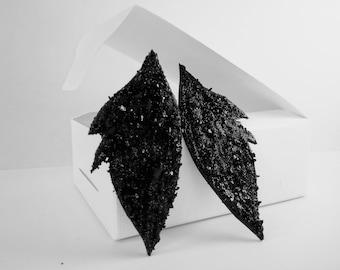 Coal Earrings / Statement / Handmade Earrings / Coal mined and handcrafted in Zasavje, Slovenia