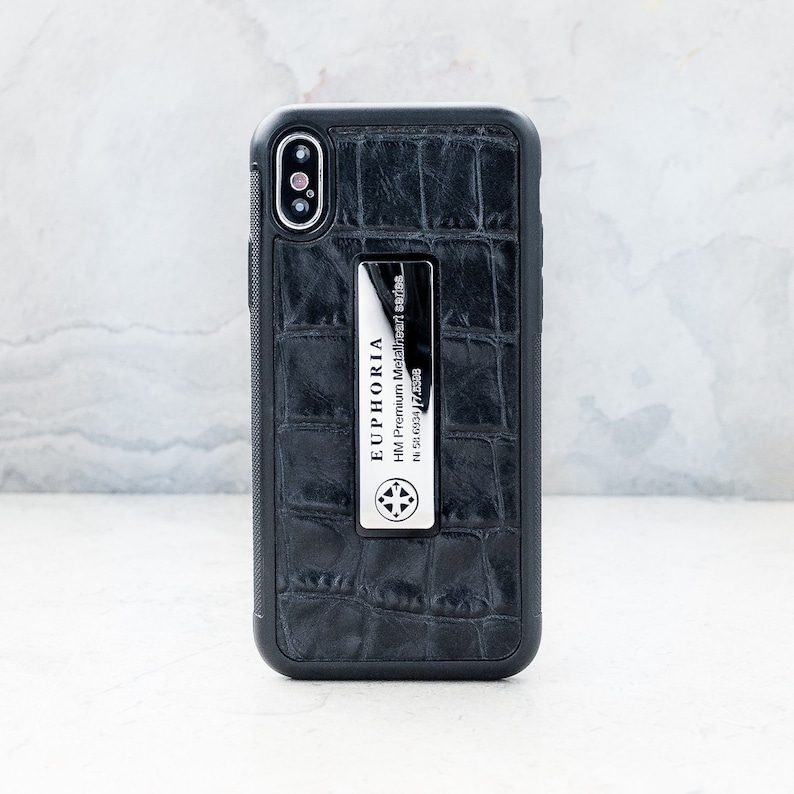 wholesale dealer 1283b 847a3 iPhone leather case metal logo - iPhone X,XS croc - luxury iphone case  cover - gucci croco leather cover - genuine leather FREE SHIPPING