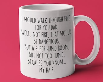 awesome personalised name mug coaster R-Z funny gift for him dad son birthday
