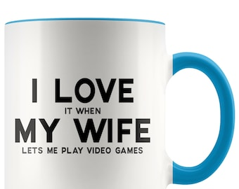Husband Gifts Gift For Video Games Gamer Coffee Mug Game Birthday Anniversary Him From Wife