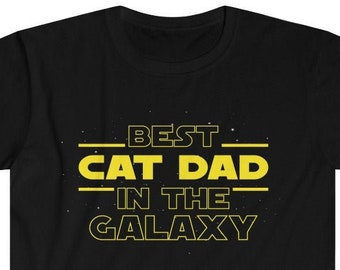 Cat Gift Men Gifts for Cat Lovers Best Cat Dad Ever T-Shirt Cat Dad T Shirt Father's Day Gift for Cat Dad Tee Pet Owner Cat Rescue Gift