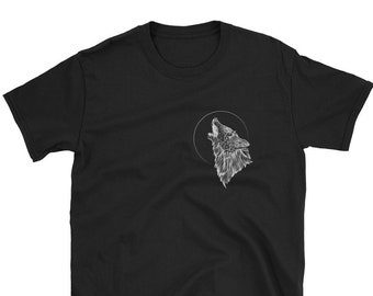 Wolf T Shirt Etsy