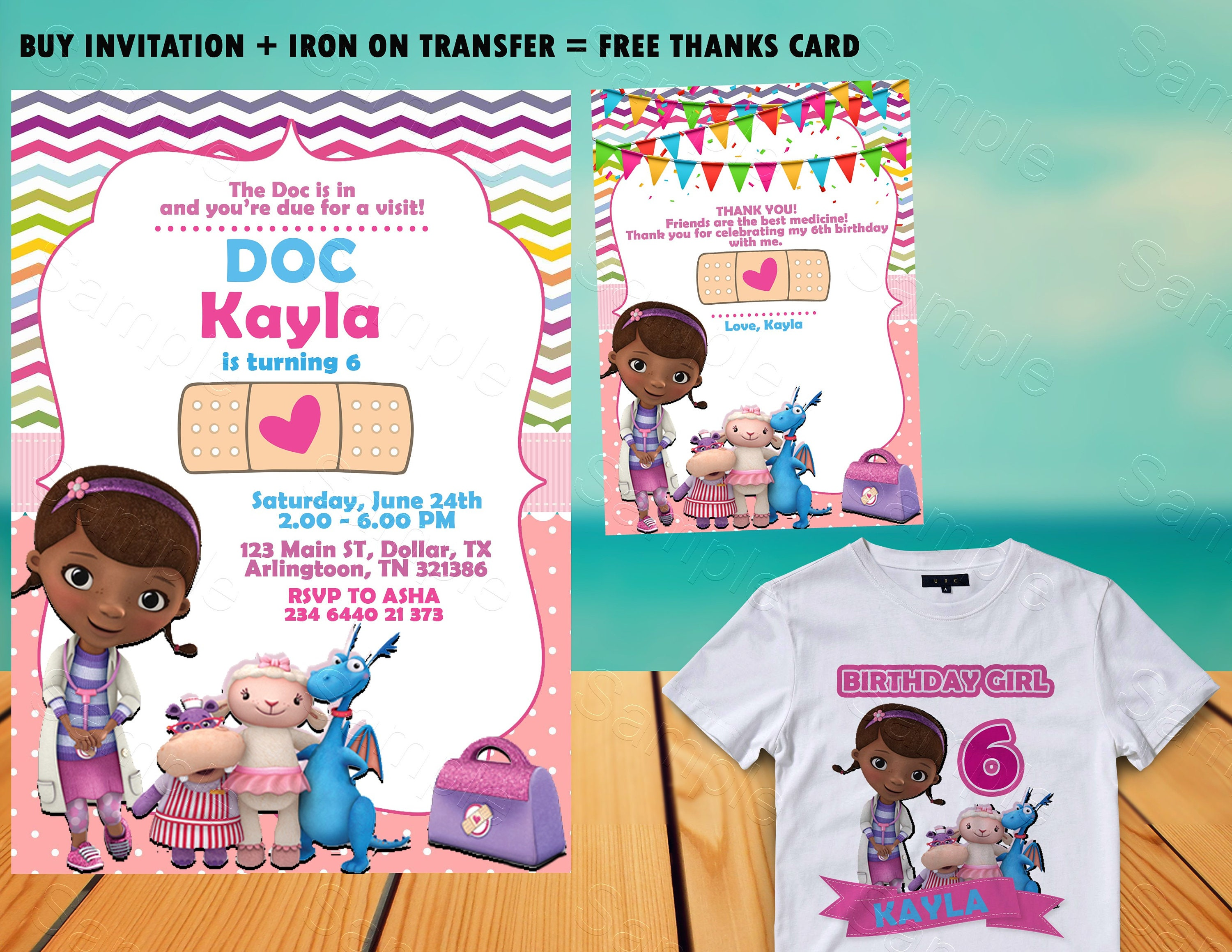 Doc McStuffins Birthday Invitation Party