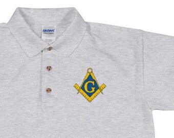 fdfd16b3 Embroidered Freemason Polo Shirt | Masonic Polo | Freemasonry Polo | Square  and Compass Polo | Gift for Freemason