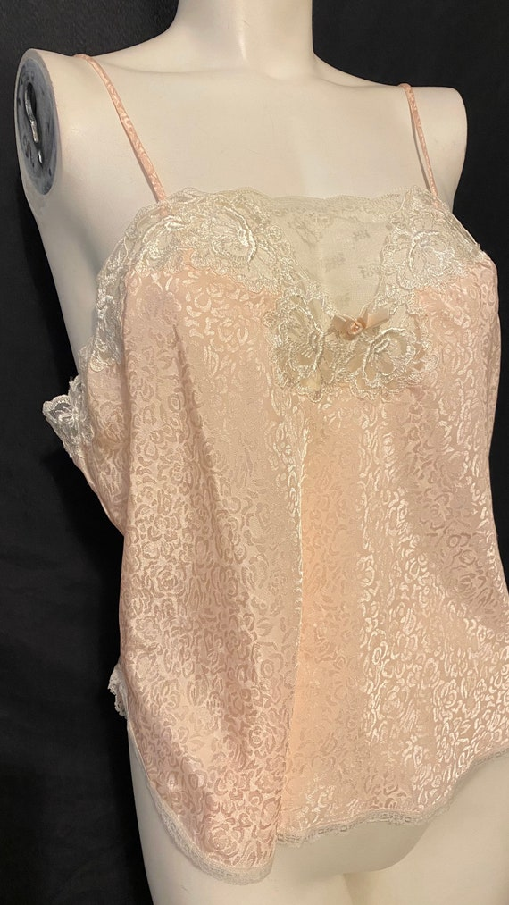 Vintage Christian Dior Baby pink lace camisole sz