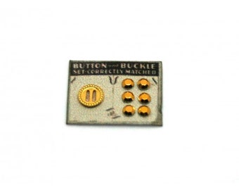 Button and Buckle Card ~ Dolls House Miniature ~ 12th Scale