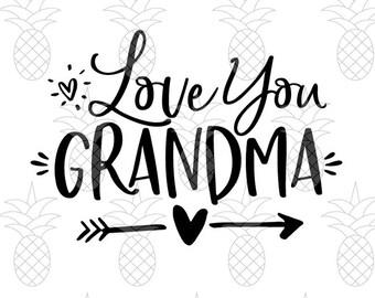 Download Te Amo Abuela SVG DXF PDF Gift Idea Día de la Madre | Etsy