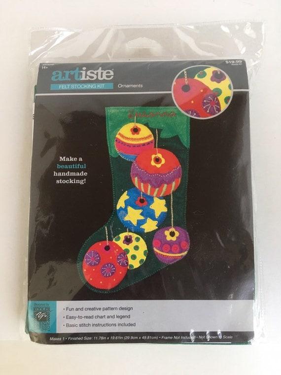 Design Works Crafts 5252 Candy Cane Snowman Stockin Kit