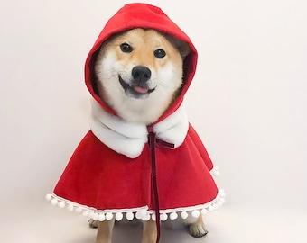 Dog Hood Cape Pet Fashion Cape Icecreamtree Studio Little Red Riding Hood Cat Hood Cape Pet Hooded Cape