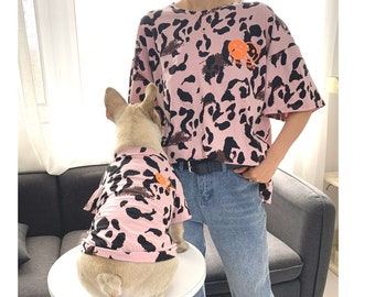 d7184662be667 Matching Pet Owner Set Pets Cat Dog Parent, Lightweight Pink Leopard Cow  Print Clothing Tee Tshirt,It is ok not to be ok quote matching tee