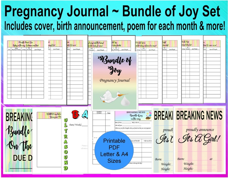 picture about Printable Pregnancy Journal titled Being pregnant Magazine Printable, Being pregnant Planner, Printable Being pregnant, , Being pregnant Diary