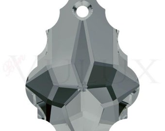 Swarovski Baroque Pendant 6090 - 16x11 MM Black Diamond