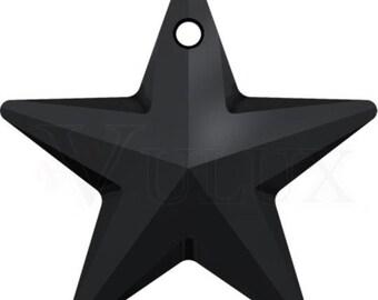 Wholesale Swarovski 6714 Star Pendant  28 mm Crystal Jet