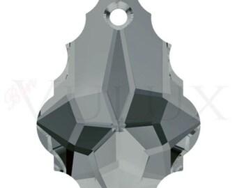 Swarovski Baroque Pendant 6090 22x15 MM Black Diamond