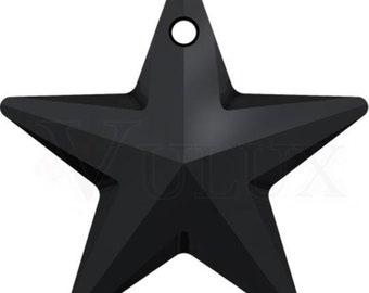 Wholesale Swarovski 6714 Star Pendant  40 mm Crystal Jet
