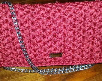 Crochet handmade clutch